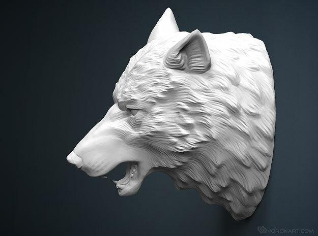 Wolf Head sculpture. WT-1. 15cm