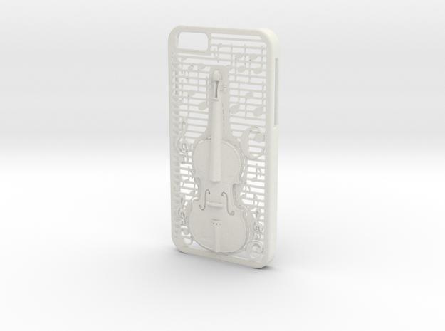 Iphone 6 Case: Violin in White Natural Versatile Plastic