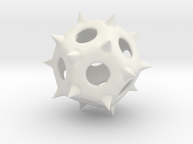 Spiky in White Natural Versatile Plastic