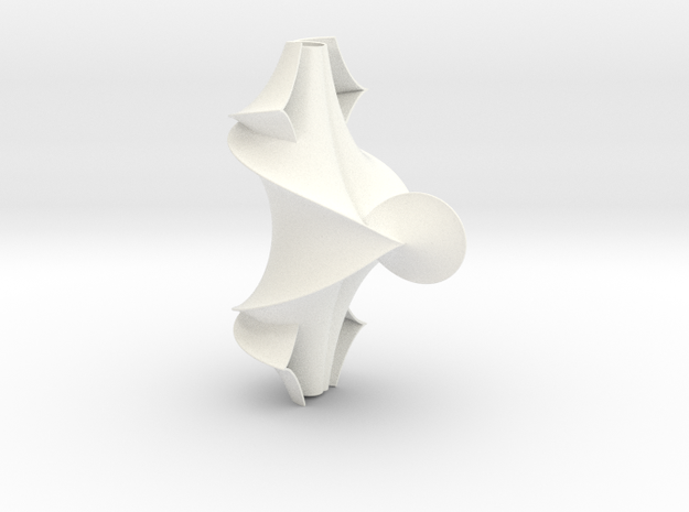 The Kuen Surface (1.5 turns) in White Processed Versatile Plastic