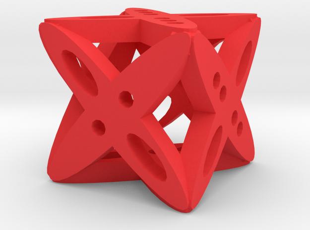 Dice4 in Red Processed Versatile Plastic