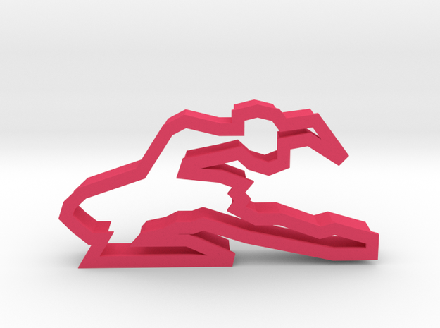 Ballerina 90 Cookie Cutter in Pink Strong & Flexible Polished