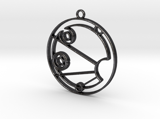 Isabelle - Necklace in Polished and Bronzed Black Steel