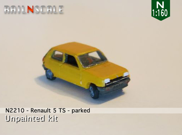 Renault 5 TS - Parked (N 1:160) in Frosted Ultra Detail