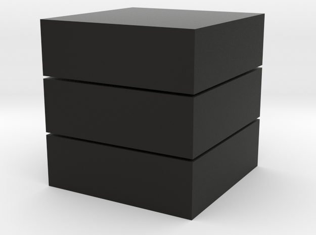 Cubic 1x1x3 3cm in Black Strong & Flexible