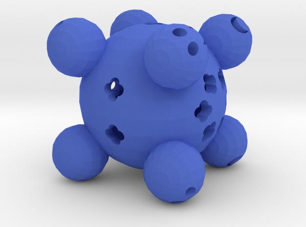 Dice8 in Blue Processed Versatile Plastic
