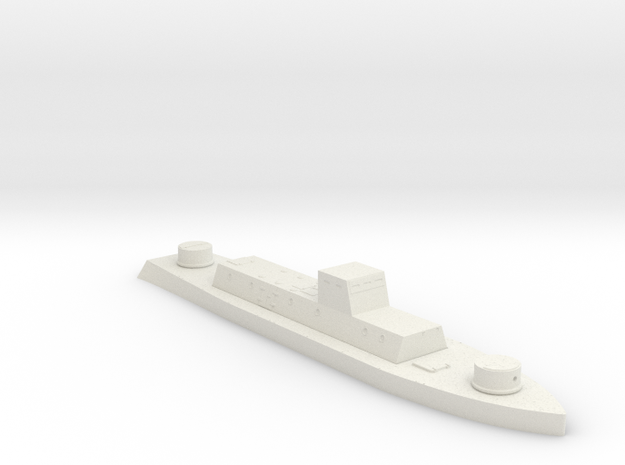 1/700th scale WW2 Hungarian armoured boat in White Strong & Flexible
