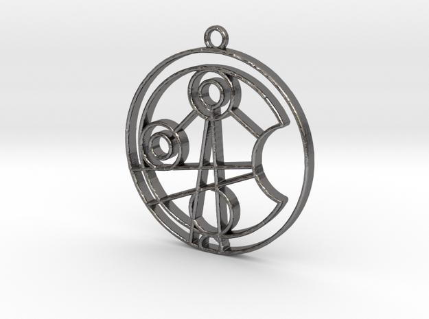 Jasmine - Necklace in Polished Nickel Steel