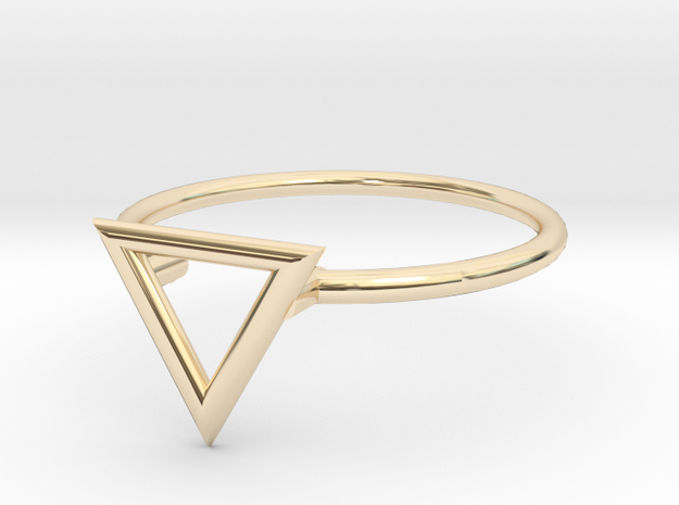 Open Triangle Ring Sz. 5 in 14K Yellow Gold