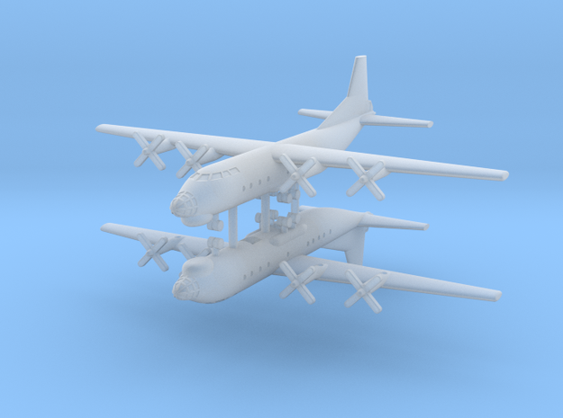 1/700 AN-12 (Cub) Transport Aircraft (x2) in Smooth Fine Detail Plastic