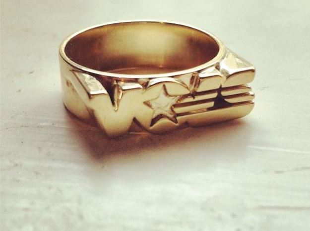 UT Vols ring  in Polished Brass