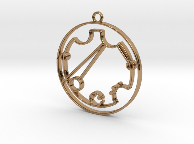 Kristen - Necklace in Polished Brass