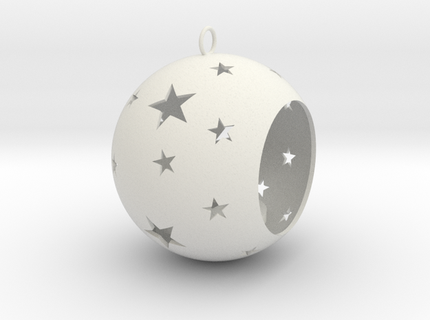 Christmas Bauble Tealight Stars in White Strong & Flexible