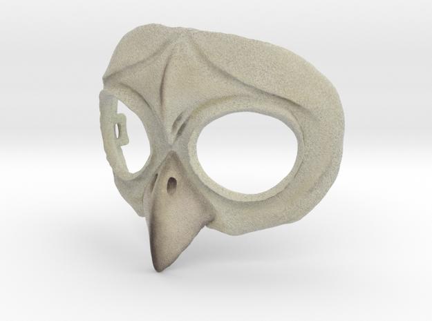 Owl Mask in Full Color Sandstone