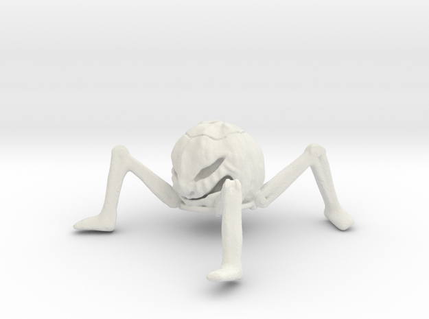 Pumpkin Hollow With Legs 75mm X 75mm in White Strong & Flexible