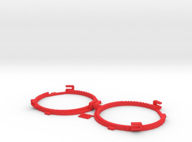 67.5mm Lens Separators   Oculus Rift DK2 in Red Processed Versatile Plastic