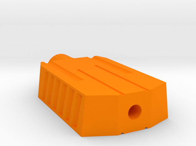 Tanko Airsoft Muzzle Suppressor (14mm Self-Cutting in Orange Processed Versatile Plastic