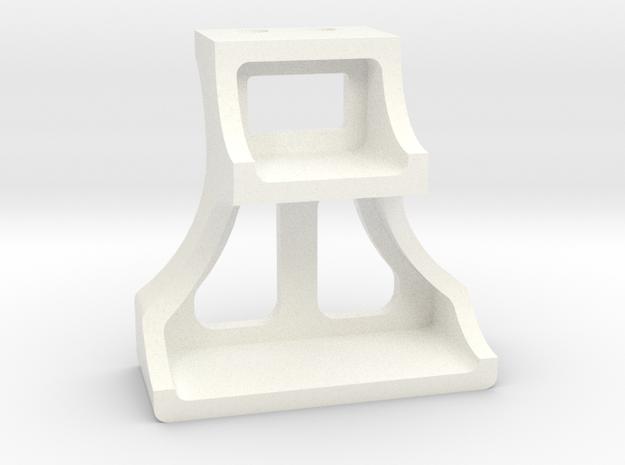 "3/4"" Scale Cast Tender Stirup in White Processed Versatile Plastic"