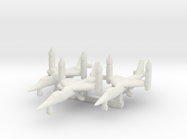 1/700 VJ101 C on the Ground x 3 in White Natural Versatile Plastic