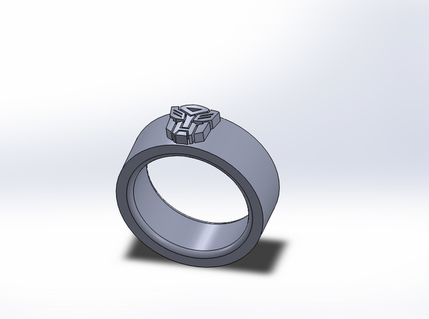 Autobot Ring 3d printed