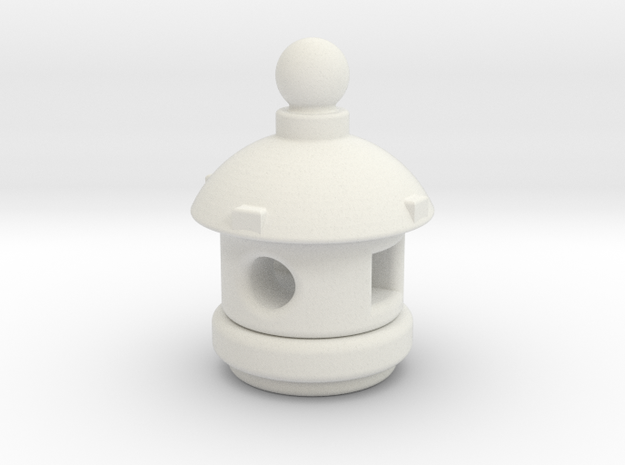 Spirit House - Small in White Natural Versatile Plastic