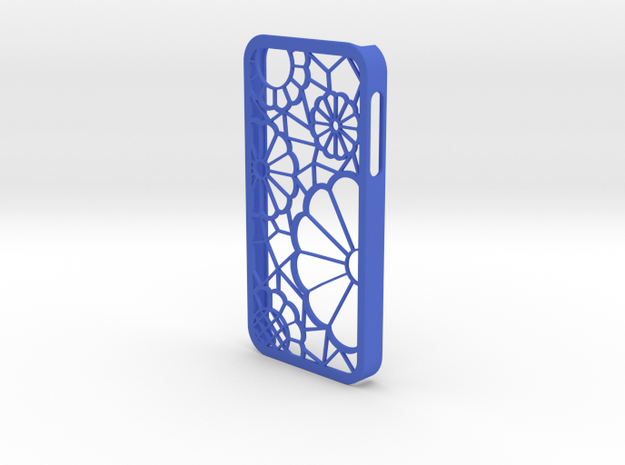 IPhone 5 Lace Case in Blue Strong & Flexible Polished