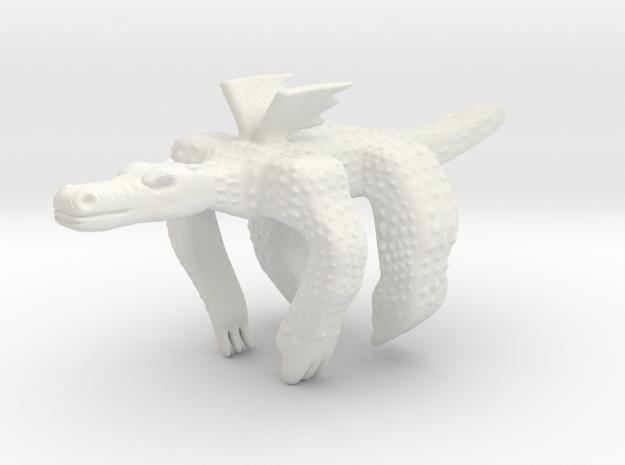 Dragonhugs in White Natural Versatile Plastic