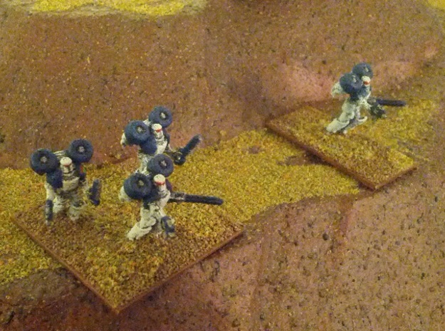 15mm Legionary Storm Squad in White Natural Versatile Plastic