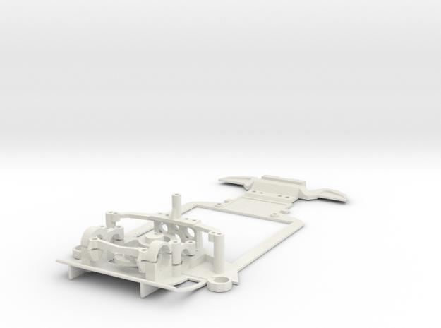 Sub-chassis V6 Mazda787 LMS 102mm in White Natural Versatile Plastic