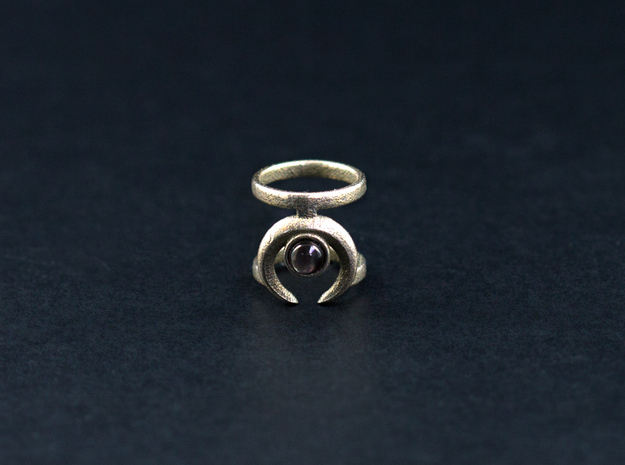 """The """"Occult"""" midi ring (Metal) in Stainless Steel"""