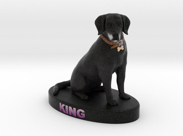 Custom Dog Figurine - King 3d printed