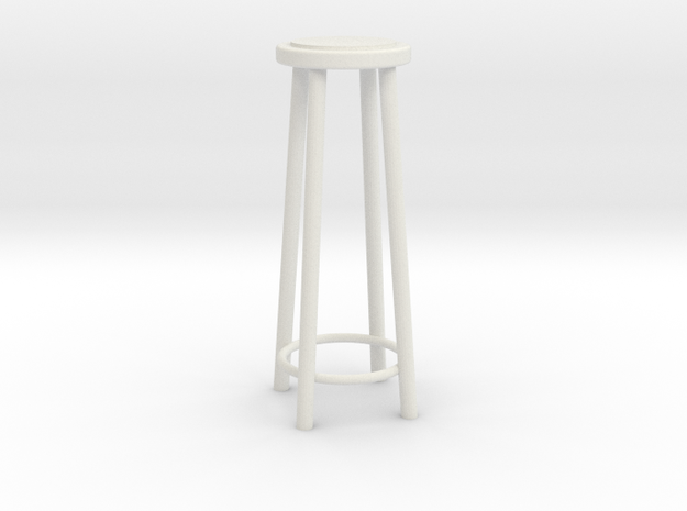 "1:24 42"" Simple Stool in White Strong & Flexible"