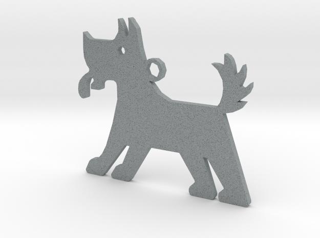 Dog in Polished Metallic Plastic