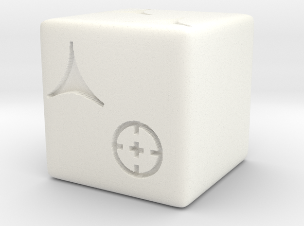 Light Dice in White Strong & Flexible Polished