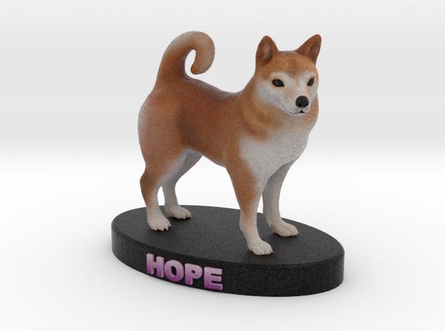 Custom Dog Figurine - Hope 3d printed