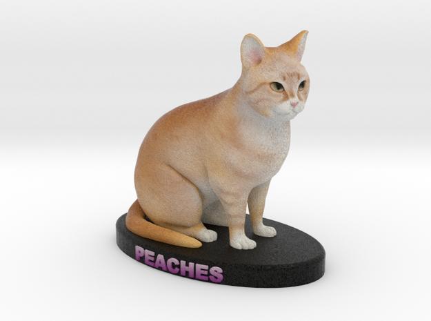 Custom Cat Figurine - Peaches in Full Color Sandstone