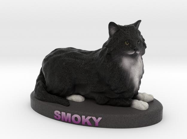 Custom Cat Figurine - Smoky in Full Color Sandstone