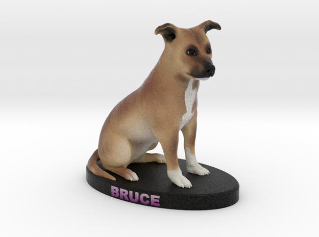 Custom Dog Figurine - Bruce in Full Color Sandstone
