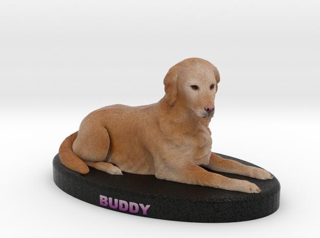 Custom Dog Figurine - Buddy Boy Floyd in Full Color Sandstone