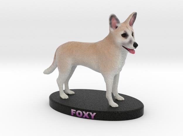 Custom Dog Figurine - Foxy in Full Color Sandstone