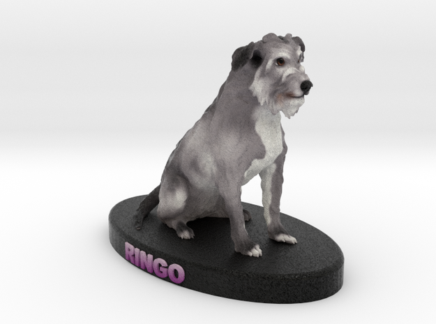 Custom Dog Figurine - Ringo in Full Color Sandstone
