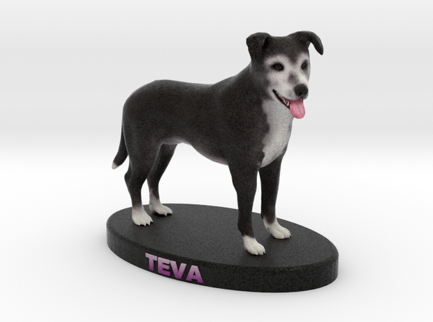 Custom Dog Figurine - Teva in Full Color Sandstone