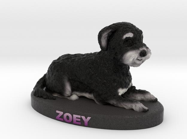 Custom Dog Figurine - Zoey in Full Color Sandstone