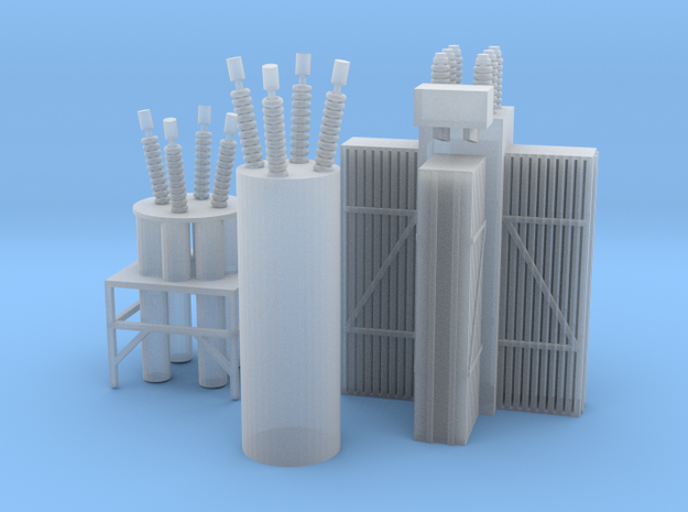 Sub Station Insulators And Coolers 3d printed