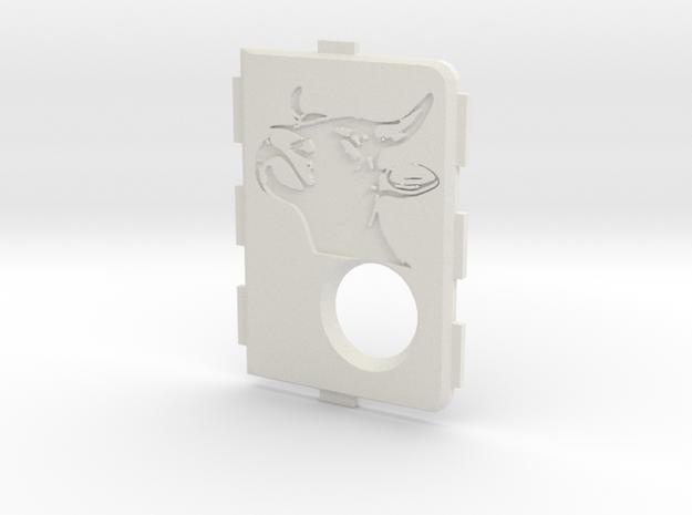 MarkV Cover  - Bull in White Natural Versatile Plastic