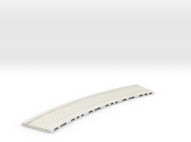 P-32st-tram-long-curve-100-1a in White Natural Versatile Plastic