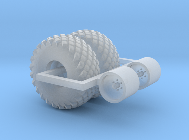 1:87 scale     16.5L X 16.1 Turf Tire And Wheels