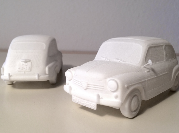 Fiat 600 in White Natural Versatile Plastic