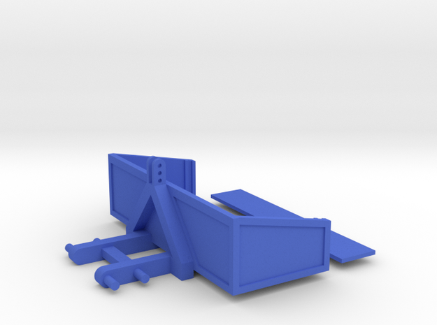 Transport Bucket 1/32 Model in Blue Strong & Flexible Polished