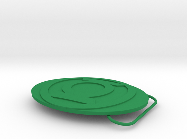 Green Lantern Belt Buckle 3d printed